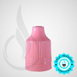 Pink CRC Tamper Evident Bottle Cap with Tip