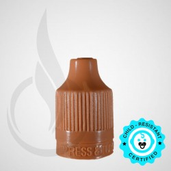 Brown CRC Tamper Evident Bottle Cap with Tip