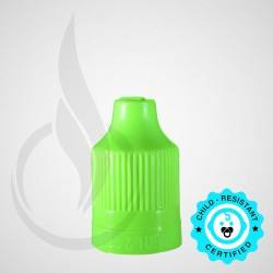 Lime Green CRC Tamper Evident Bottle Cap with Tip