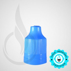 Light Blue CRC Tamper Evident Bottle Cap with Tip