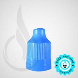 Light Blue CRC Tamper Evident Bottle Cap with Tip