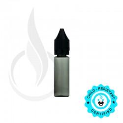15ML PET TRANSPARENT BLACK CHUBBY GORILLA BOTTLE W/ CRC/TE SOLID BLACK CAP - V2