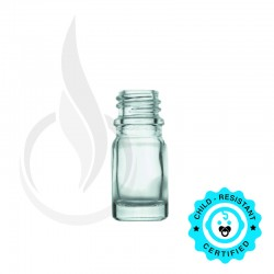 10ml CLEAR Euro Round Glass Bottle