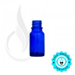 10ml Cobalt Blue Euro Round Glass Bottle 18-415