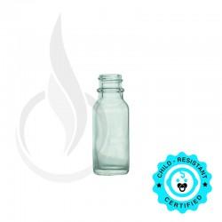0.5oz Clear Boston Round Bottle 18-400