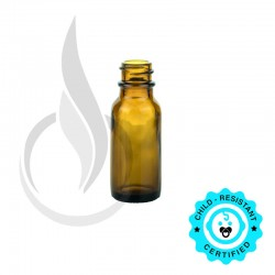 0.5oz Amber Boston Round Bottle 18-400