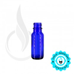 15ml Blue Boston Round Bottle 18-400