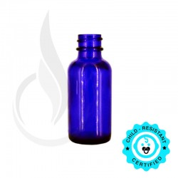 1oz Cobalt Blue Boston Round Bottle 20-400