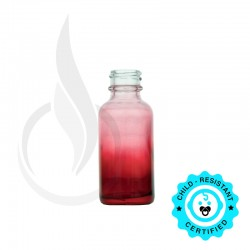 30ml Faded Red Boston Round Bottle 20-400