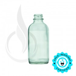 120ml Clear Boston Round Bottle 22-400