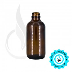 120ml Amber Boston Round Bottle 22-400