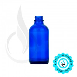 120ml Cobalt Blue Boston Round Bottle 22-400
