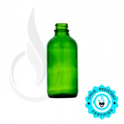 4oz Green Boston Round Bottle 22-400