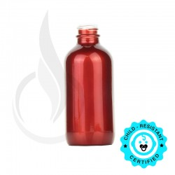 120ml Shiny Red Boston Round Bottle 22-400