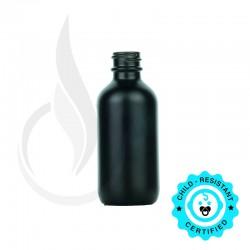 60ml Matte Black Boston Round Hybrid Bottle 20-415