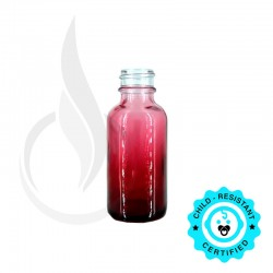 30ml Faded Red Boston Round Bottle 20-400 (180 Case Packs)
