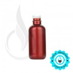 30ml Shiny Red Boston Round Hybrid Bottle 20-415