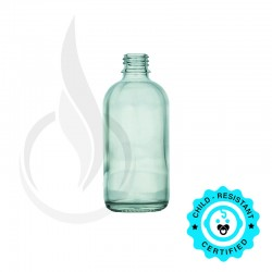 120ml Clear Boston Round Hybrid Bottle 20-415