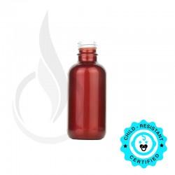 60ml Shiny Red Boston Round Hybrid Bottle 20-415