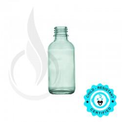 60ml Clear Boston Round Hybrid Bottle 20-415