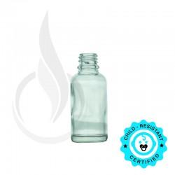 30ml Clear Euro Round Bottle 18-415
