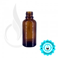 30ml Amber Euro Round Bottle 18-415