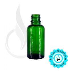 30ml Green Euro Round Bottle 18-415