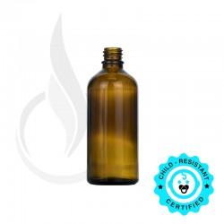 100ml Amber Euro Round Bottle 18-415