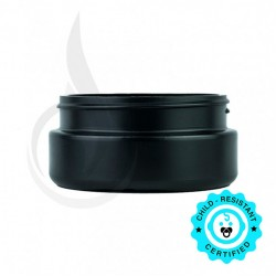 8oz Black Cannabis Plastic Jar (LID SOLD SEPARATELY)
