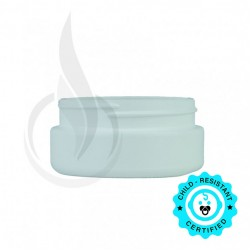8oz WHITE Cannabis Plastic Jar (LID SOLD SEPARATELY)